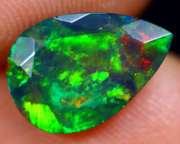 1.51cts Natural Ethiopian Welo Faceted Smoked Opal / HM1400