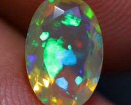 0.88 CT 9X6 MM Extra Fine Quality  Welo Ethiopian Faceted Opal-CF71