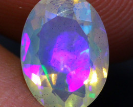1.00 CT Broadflash Pattern!! Welo Ethiopian Faceted Opal-CF73