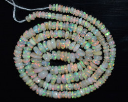 33.70 Ct Natural Ethiopian Welo Opal Beads Play Of Color OB107