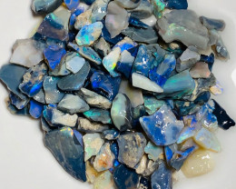 Dark/Black Rough Seam Opals Full of Colours and Small Cutters