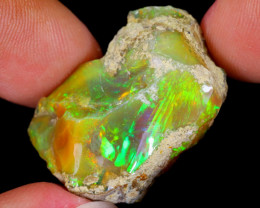 31cts Natural Ethiopian Welo Rough Opal / WR5484