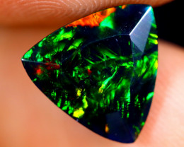 1.92cts Natural Ethiopian Welo Faceted Smoked Opal / HM1426