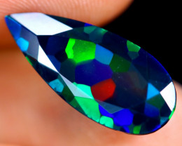3.23cts Natural Ethiopian Welo Faceted Smoked Opal / HM1427
