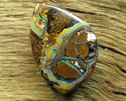 22cts. FLASHY PICTURE PATTERN QUEENSLAND OPAL.