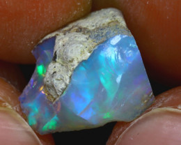 6.92Ct Multi Color Play Ethiopian Welo Opal Rough J2810/R2