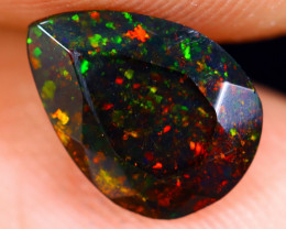 0.80cts Natural Ethiopian Welo Faceted Smoked Opal / NY670