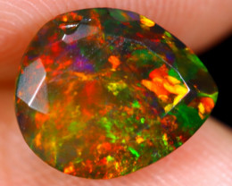 1.46cts Natural Ethiopian Welo Faceted Smoked Opal / NY674