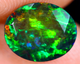 1.44cts Natural Ethiopian Welo Faceted Smoked Opal / NY680
