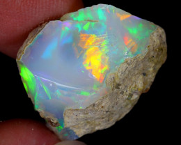 17cts Natural Ethiopian Welo Rough Opal / WR5541
