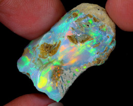 22cts Natural Ethiopian Welo Rough Opal / WR5545