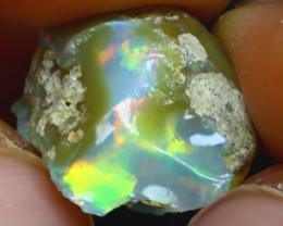 8.32Ct Multi Color Play Ethiopian Welo Opal Rough H2917/R2