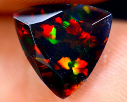 0.87cts Natural Ethiopian Welo Faceted Smoked Opal / NY683