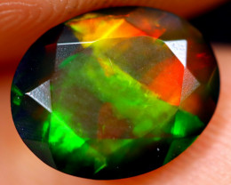 1.34cts Natural Ethiopian Welo Faceted Smoked Opal / NY684