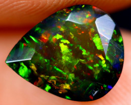 1.53cts Natural Ethiopian Welo Faceted Smoked Opal / NY685