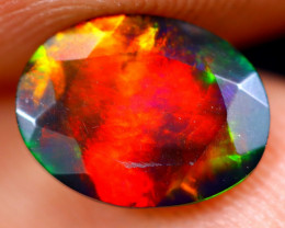 1.01cts Natural Ethiopian Welo Faceted Smoked Opal / NY688