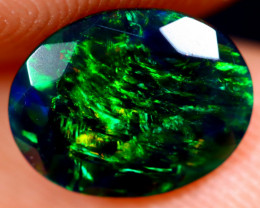 0.90cts Natural Ethiopian Welo Faceted Smoked Opal / NY689