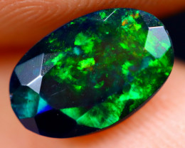 1.12cts Natural Ethiopian Welo Faceted Smoked Opal / NY695