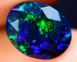 1.83cts Natural Ethiopian Welo Faceted Smoked Opal / NY699