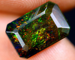 1.51cts Natural Ethiopian Welo Faceted Smoked Opal / NY710