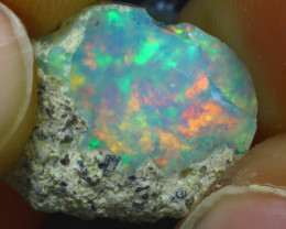 4.92Ct Multi Color Play Ethiopian Welo Opal Rough J3017/R2
