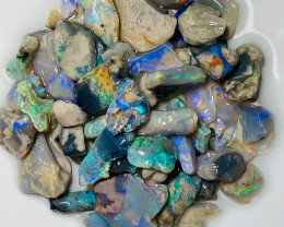 Bright Multicolour Small Size Rough Nobby Opals, Good Potential