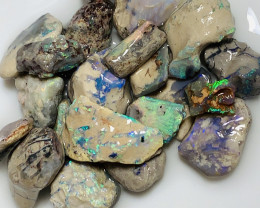 Nobby- Multicolour Rough Crystal Nobby Opals to Cut & Carve#2192