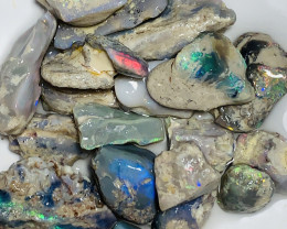 Colourful Nobby Rough Opals- Great Potential (video plz)#2196