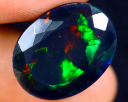 7.09cts Natural Ethiopian Faceted Smoked Welo Opal / BF4888