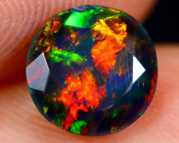 0.88cts Natural Ethiopian Welo Faceted Smoked Opal / NY712
