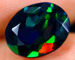 1.48cts Natural Ethiopian Welo Faceted Smoked Opal / NY713