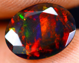 0.89cts Natural Ethiopian Welo Faceted Smoked Opal / NY720