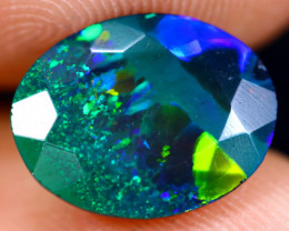 2.29cts Natural Ethiopian Welo Faceted Smoked Opal / NY722