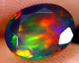 1.75cts Natural Ethiopian Welo Faceted Smoked Opal / NY723