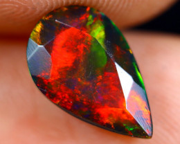 1.50cts Natural Ethiopian Welo Faceted Smoked Opal / NY724