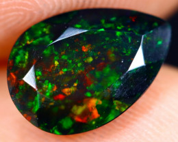 1.65cts Natural Ethiopian Welo Faceted Smoked Opal / NY725