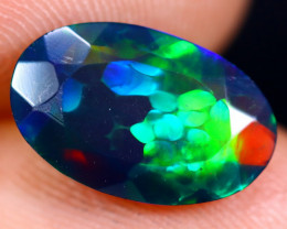 1.88cts Natural Ethiopian Welo Faceted Smoked Opal / NY727