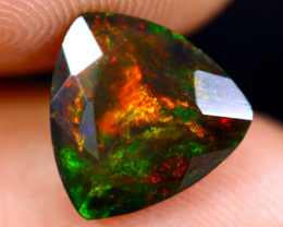 1.74cts Natural Ethiopian Welo Faceted Smoked Opal / NY728