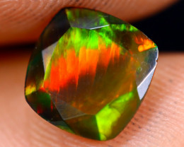 0.95cts Natural Ethiopian Welo Faceted Smoked Opal / NY729