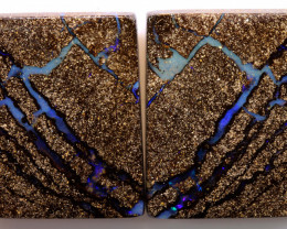 89.55 CTS * DOUBLE SIDED *BOULDER  OPAL PAIR   DO-1202