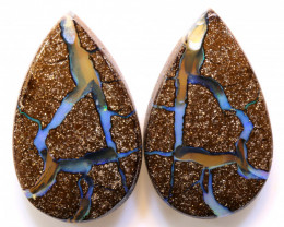 Boulder Opal Unusual  Pair 46.80 Carats DO-1209