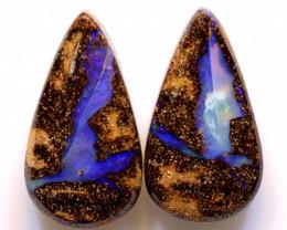 28.25 cts Australian Boulder  Opal Pair DO-1211