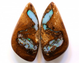 44.60 CTS   BOULDER  PIPE OPAL PAIR   DO-1207