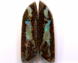 Boulder Opal Pair DO-1208 - downunderopals