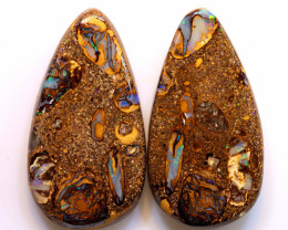 Boulder Pipe Opal Pair DO-1216 - downunderopals