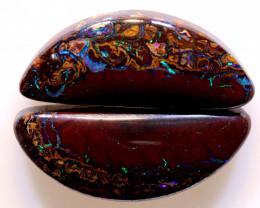 14.60 cts Australian Yowah Opal Pair DO-1219