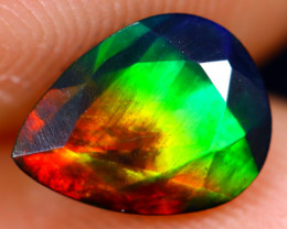 0.86cts Natural Ethiopian Welo Faceted Smoked Opal / NY731