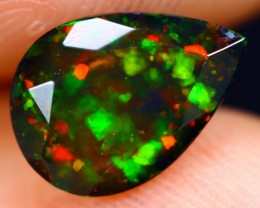 1.09cts Natural Ethiopian Welo Faceted Smoked Opal / NY732