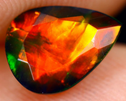 1.19cts Natural Ethiopian Welo Faceted Smoked Opal / NY734
