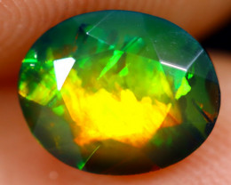1.09cts Natural Ethiopian Welo Faceted Smoked Opal / NY737